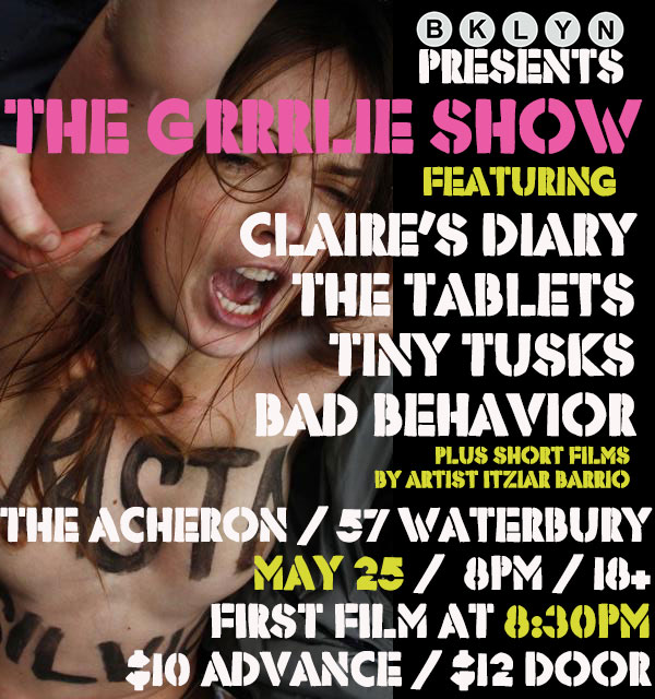 The Grrrlie Show flier Acheron