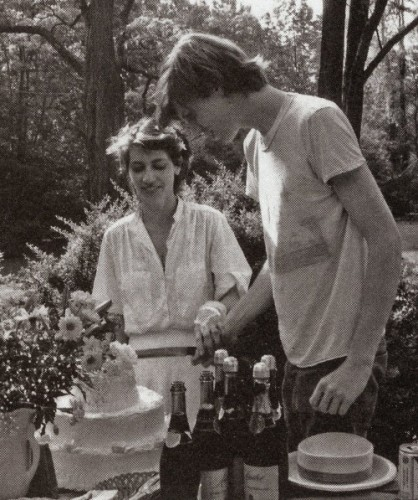 Kim Gordon and Thurston Moore's wedding day.