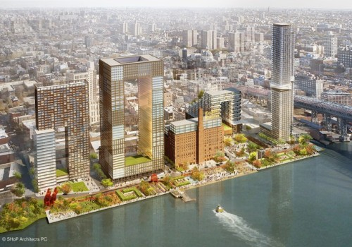 Plans for the Domino Sugar Factory office park and residences.